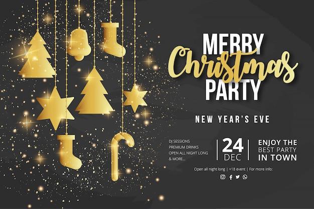 Modèle de flyer fête de joyeux noël Vecteur gratuit