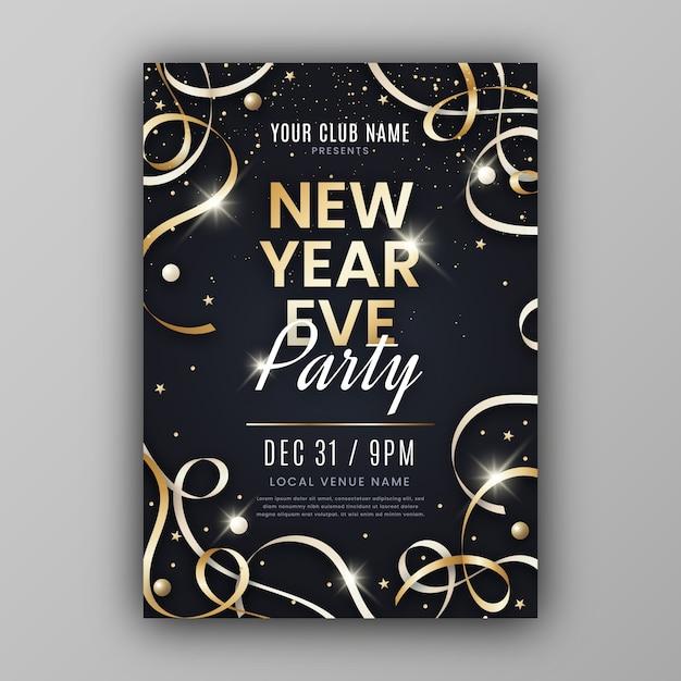 Modèle de flyer fête nouvel an abstrait Vecteur gratuit
