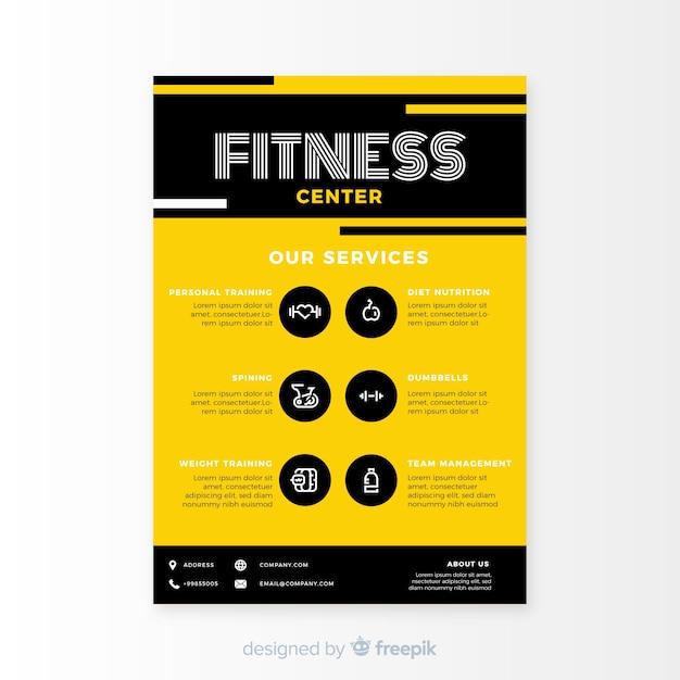 Modèle de flyer fitness moderne Vecteur gratuit