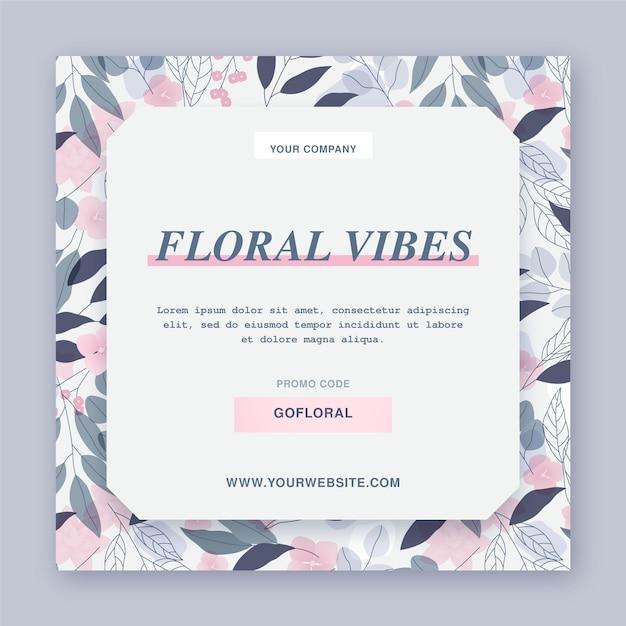 Modèle De Flyer Floral Vecteur gratuit