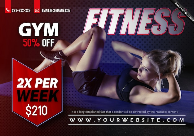 Modèle de flyer gym fitness Vecteur Premium