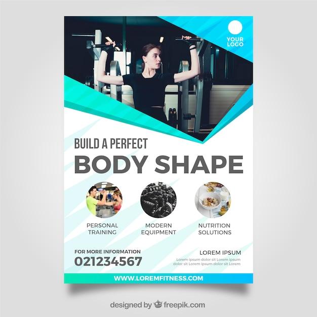 Modèle de flyer gym moderne avec image Vecteur gratuit
