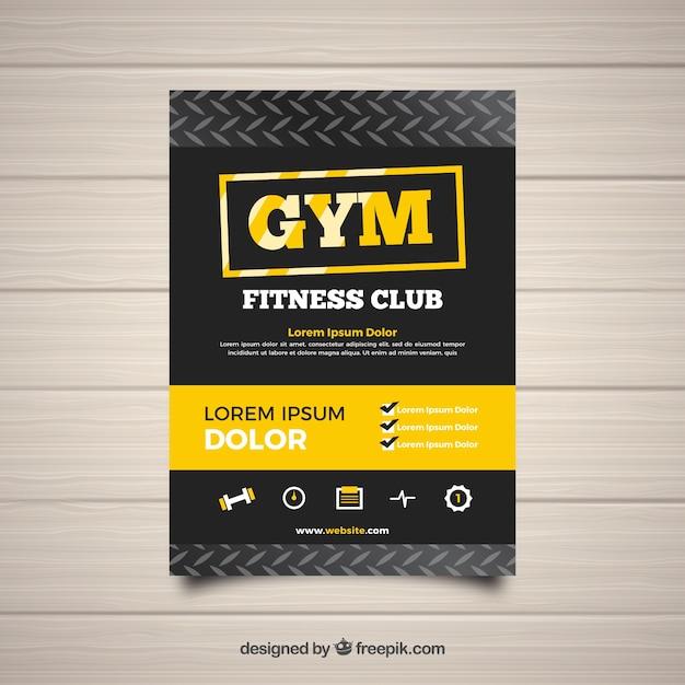 Modèle de flyer de gym moderne Vecteur gratuit