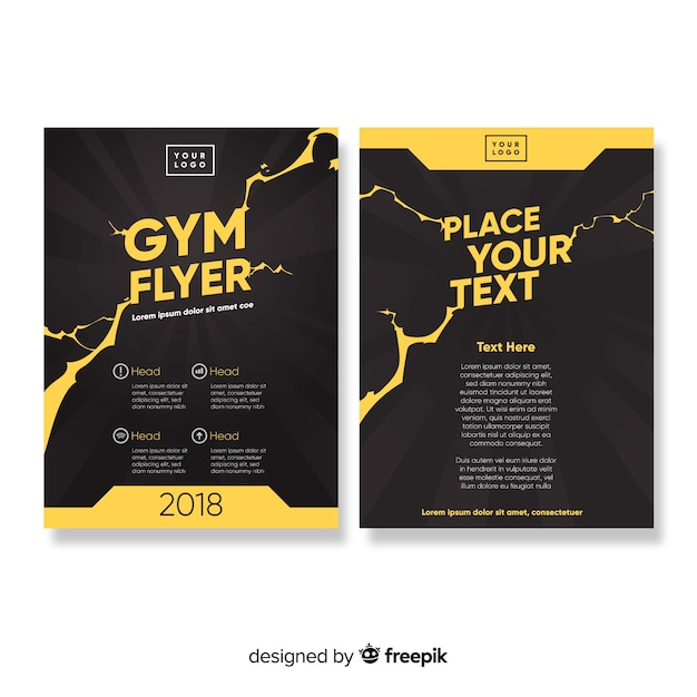 Modèle de flyer de gym Vecteur gratuit