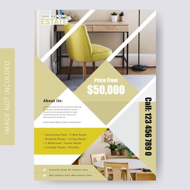 Modèle de flyer de l'immobilier Vecteur Premium