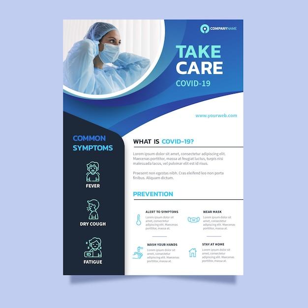 Modèle De Flyer D'informations Sur Le Coronavirus Vecteur gratuit