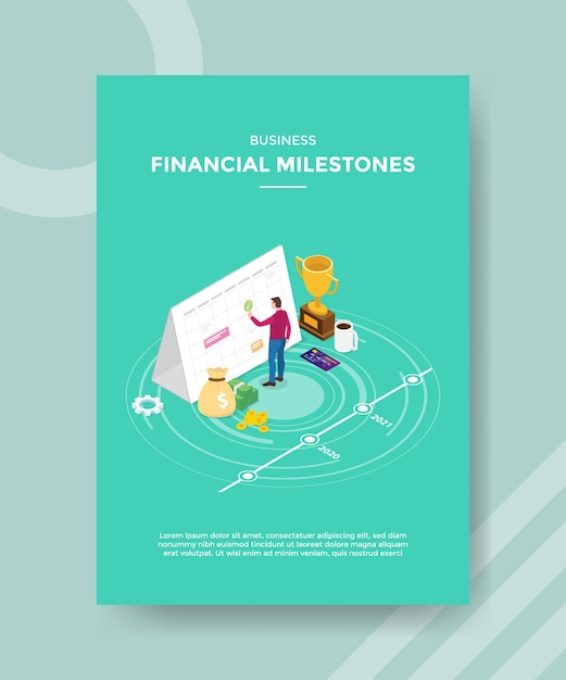 Modèle De Flyer De Jalons Financiers Commerciaux Vecteur gratuit