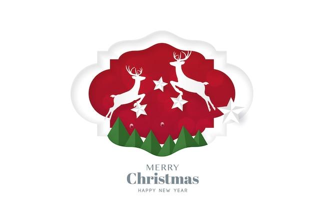 Modèle De Flyer Joyeux Noël Et Bonne Année Typographie Typographie Avec Lettrage Vecteur Premium