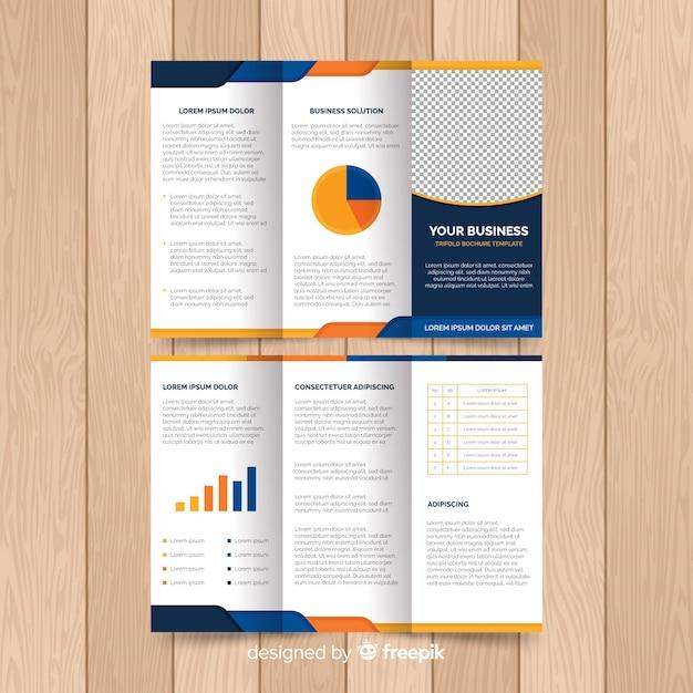 Modèle de flyer moderne avec des éléments infographiques Vecteur gratuit
