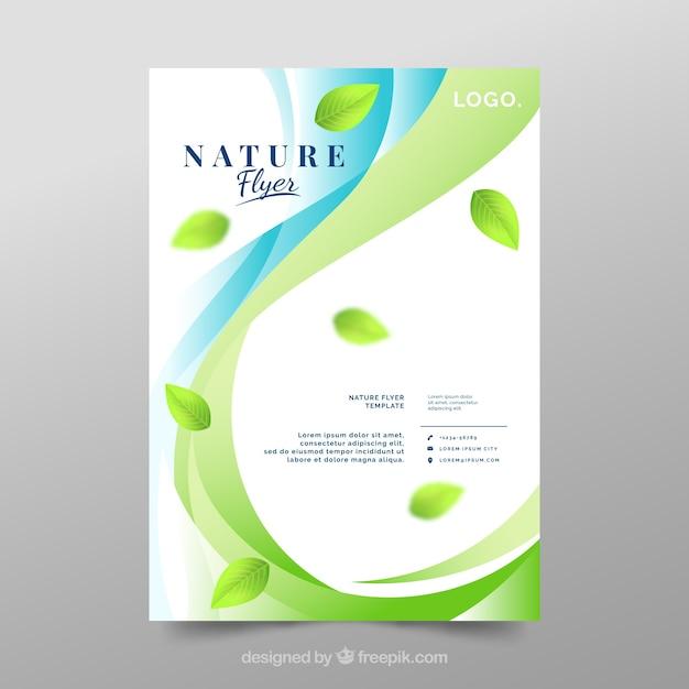 Modèle de flyer nature moderne Vecteur gratuit