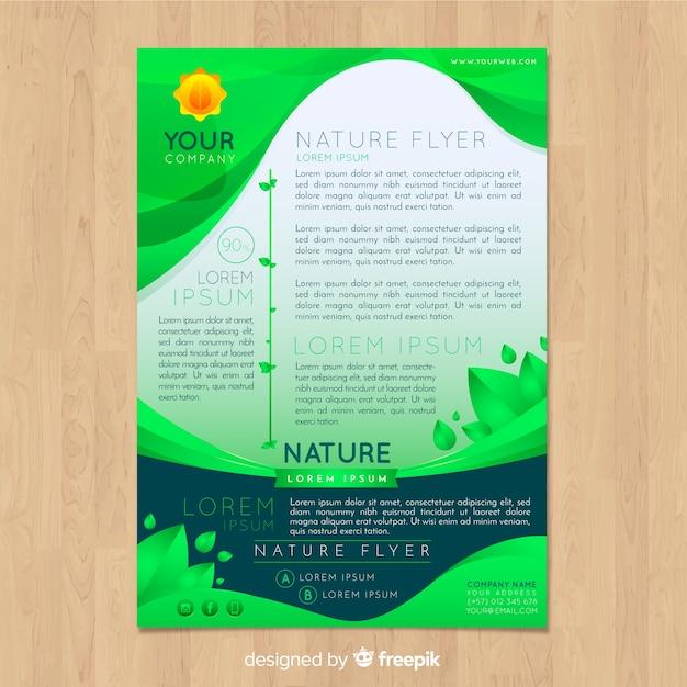 Modèle De Flyer De La Nature Moderne   Vecteur Gratuite