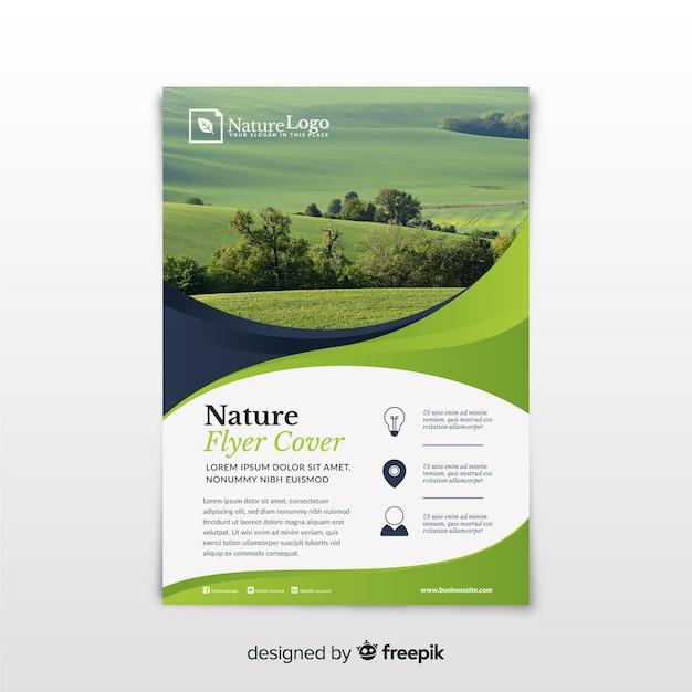 Modèle de flyer nature Vecteur gratuit