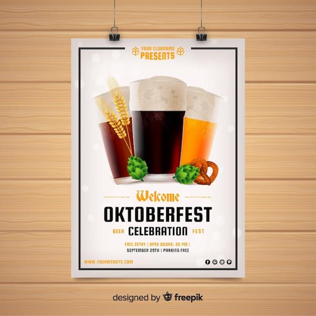 Modèle de flyer oktoberfest moderne Vecteur gratuit