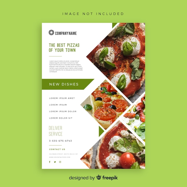 Modèle flyer pizza Vecteur gratuit