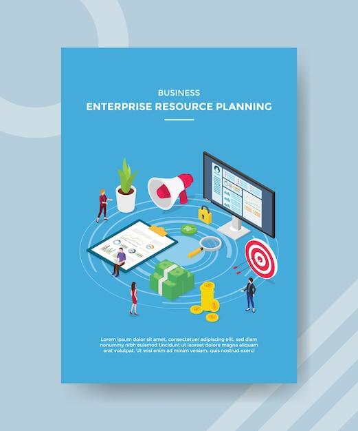 Modèle De Flyer De Planification Des Ressources D'entreprise Vecteur gratuit