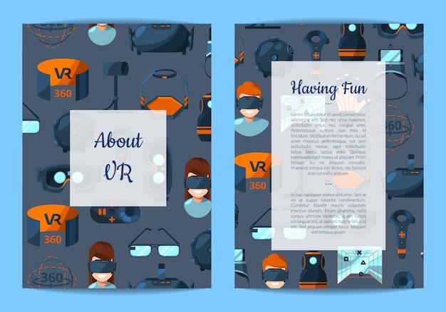 Modèle de flyer pour la boutique de gadgets vr Vecteur Premium