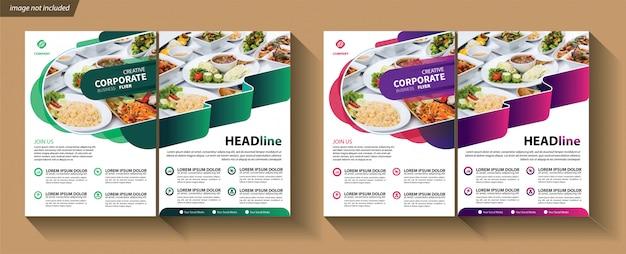 Modèle De Flyer Pour La Brochure De Couverture Corporative Vecteur Premium