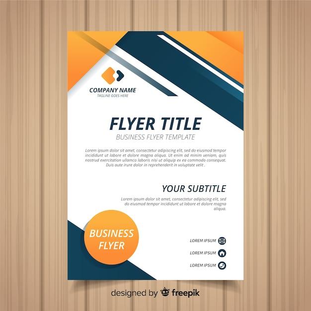 Modèle de flyer professionnel Vecteur gratuit