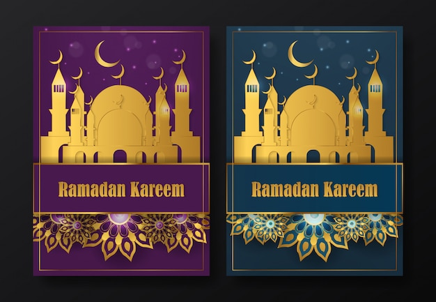 Modèle de flyer ramadan kareem Vecteur Premium