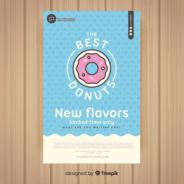 Modèle de flyer restaurant coloré Vecteur gratuit