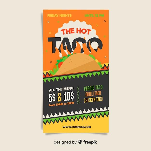 Modèle de flyer restaurant mexicain coloré Vecteur gratuit