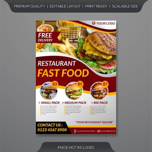 Modèle de flyer restaurant Vecteur Premium