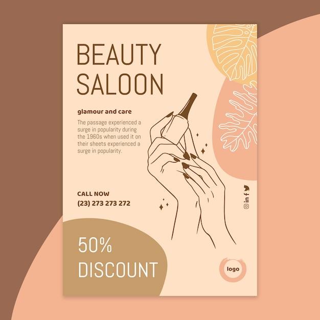 Modèle De Flyer De Salon De Beauté Vecteur Premium