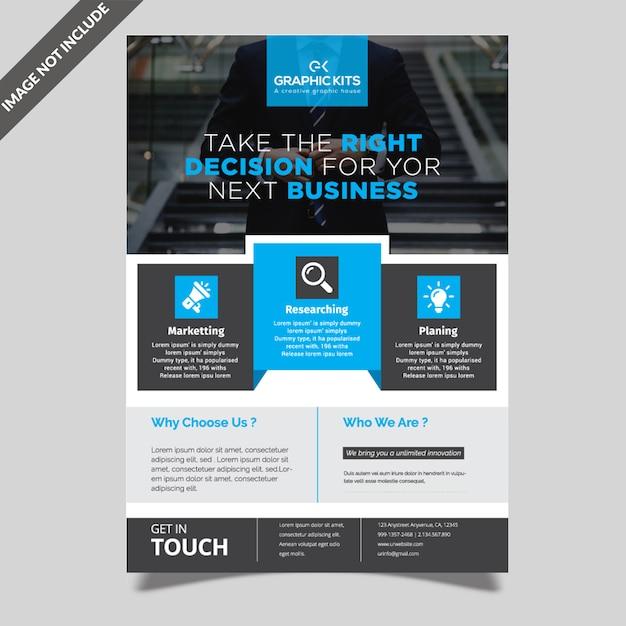 Modèle de flyer de simple entreprise Vecteur Premium