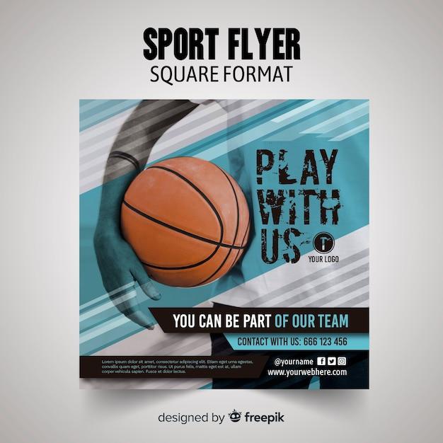 Modèle de flyer sport Vecteur gratuit