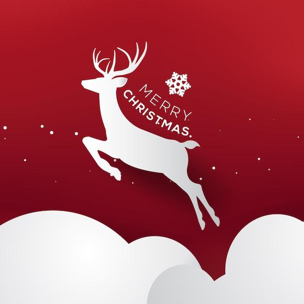 Modèle De Flyer De Typographie Carte De Voeux Joyeux Noël Et Bonne Année. Vecteur Premium