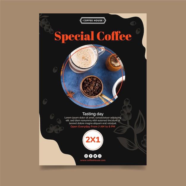 Modèle De Flyer Vertical Café Spécial Vecteur gratuit