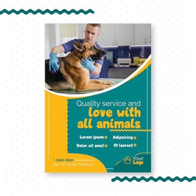 Modèle De Flyer Vétérinaire Vecteur gratuit