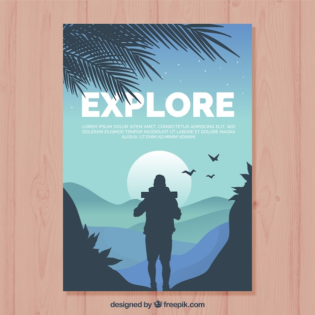 Modèle De Flyer De Voyage Avec Un Design Plat Vecteur gratuit