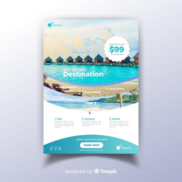 Modèle de flyer de voyage Vecteur gratuit
