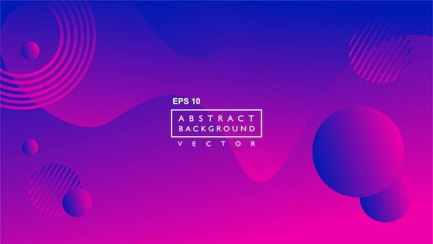 Modèle de fond abstrait liquide. avec forme de cercle et de lignes. violet Vecteur Premium