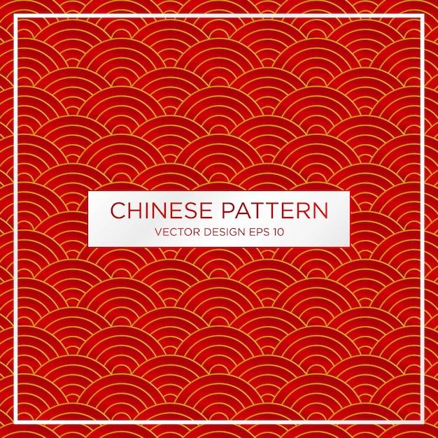 Modèle de fond abstrait motif chinois traditionnel Vecteur Premium