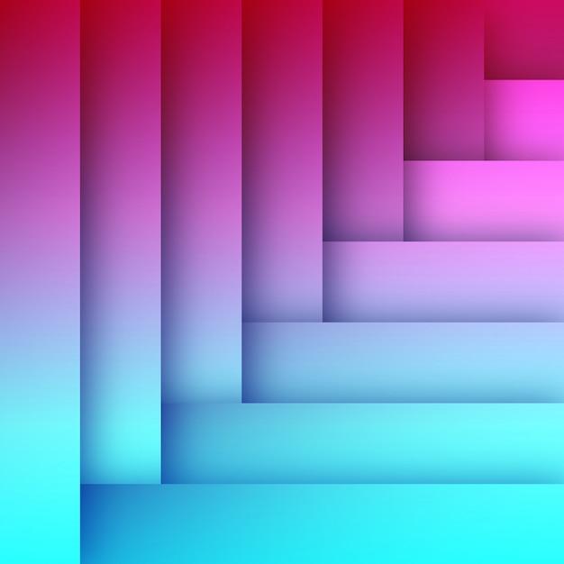 Modèle de fond abstrait plat bleu et rose Vecteur Premium