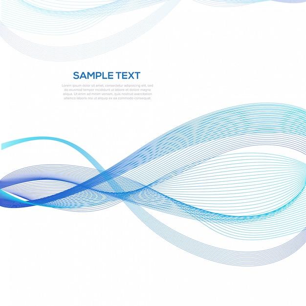 Modèle de fond des affaires abstrait vague bleue Vecteur Premium