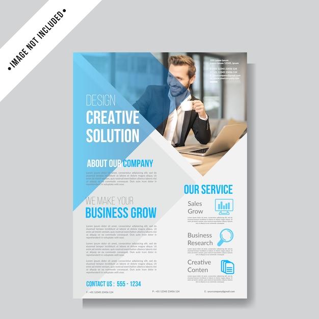 Modèle de fond business flyer layout Vecteur Premium