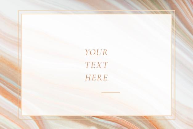 Modèle de fond de cadre texturé en marbre Vecteur gratuit