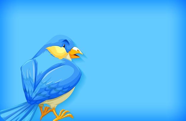 Modèle De Fond Avec Couleur Unie Et Oiseau Bleu Vecteur gratuit