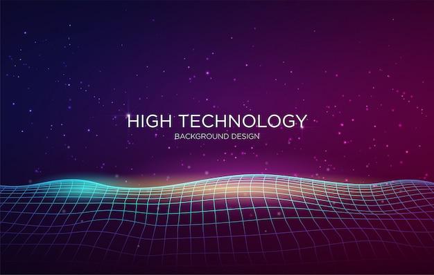 Modèle de fond de couverture de haute technologie Vecteur Premium