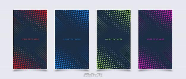 Modèle de fond de demi-teinte abstrait coloré Vecteur Premium