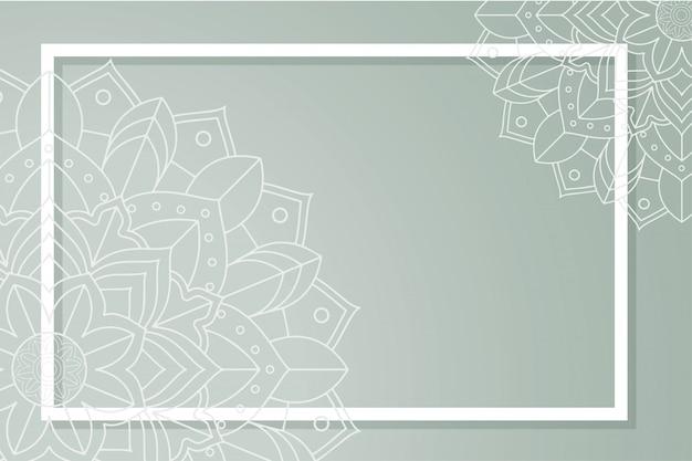 Modèle de fond avec des dessins de mandala Vecteur gratuit