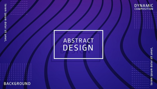 Modèle de fond dynamique dégradé abstrait Vecteur Premium