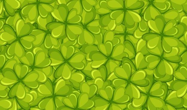 Modèle de fond avec des feuilles vertes Vecteur gratuit