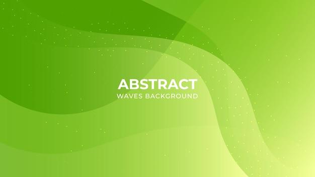 Modèle De Fond De Formes Dégradé Vert Coloré Vecteur Premium