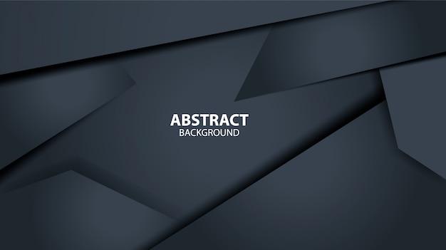 Modèle de fond géométrique abstrait noir foncé. forme moderne. Vecteur Premium