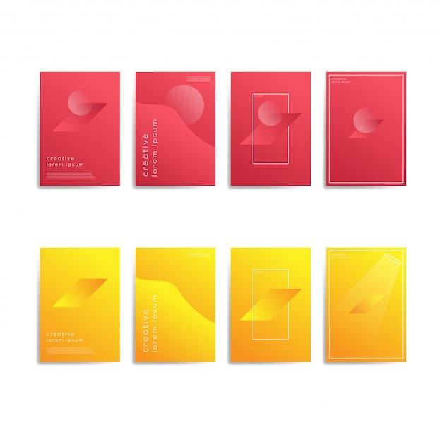 Modèle de fond géométrique abstrait Vecteur Premium