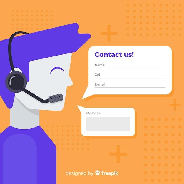 Modèle de fond d'informations de contact dessinés à la main Vecteur gratuit